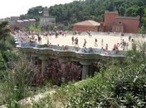 Park Guell, Mosaic Bench, Trencadis, Antoni Gaudi