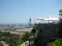 Great View of Cafe on Montjuic