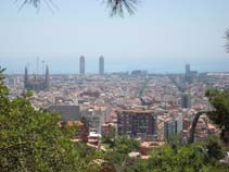 Old City Barcelona, view from Parc Guell, Barcelona Sightseeing