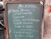 Barcelona Menu Board, Menu Del Dia, Daily Specials, Catalan, Spanish