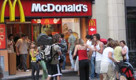 Mcdonalds, american influences, barcelona, food in barcelona, images, photos, pictures